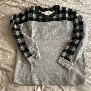 Madewell Buffalo Plaid Sweatshirt